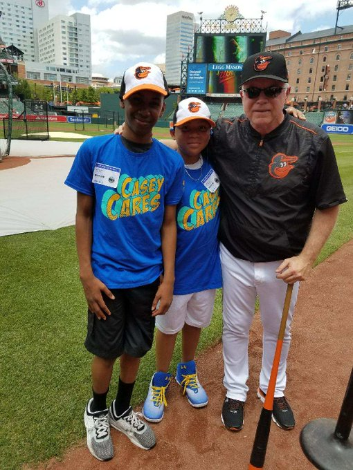 Happy birthday manager Buck Showalter from all of us at Casey Cares!