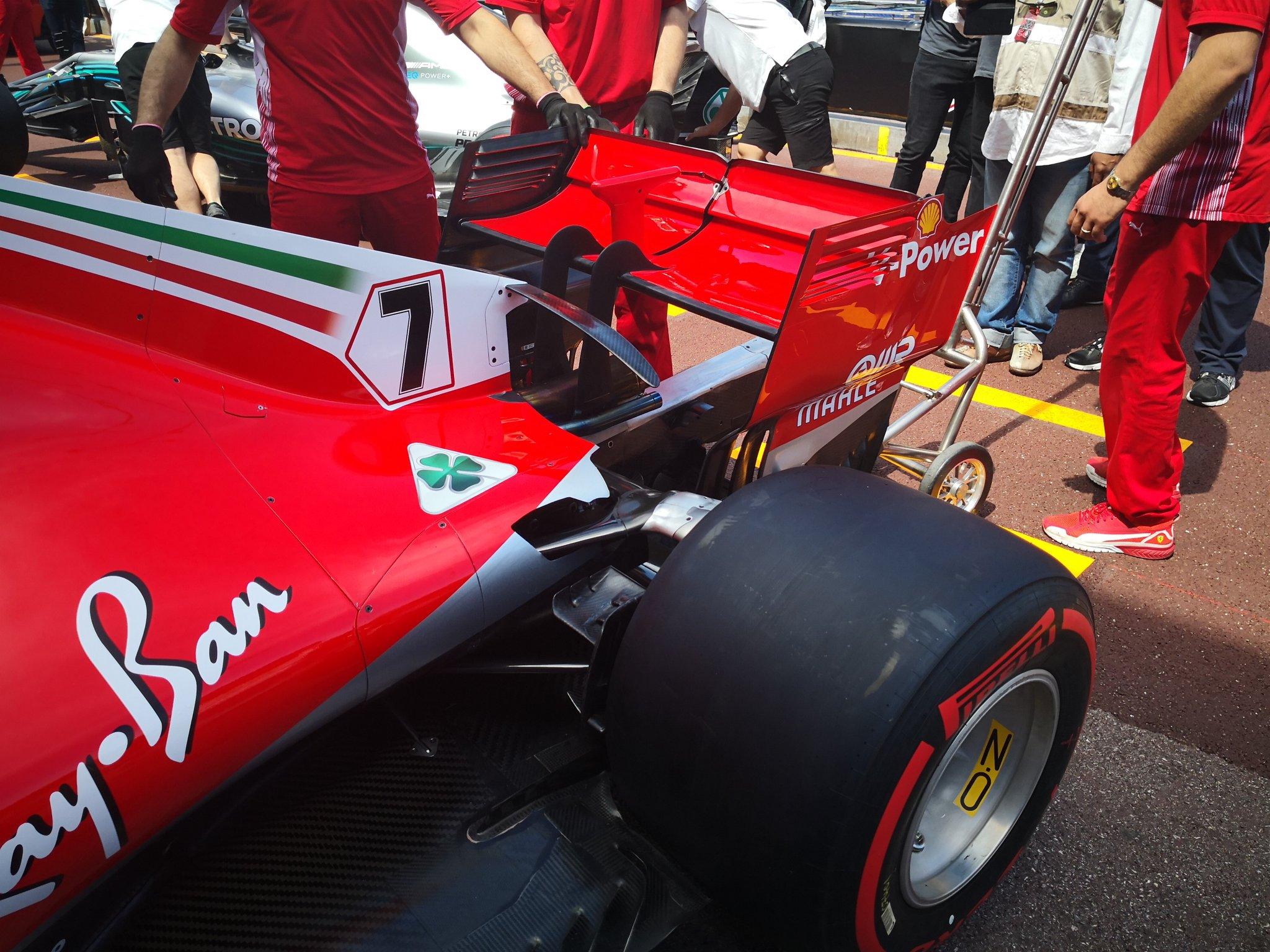 Ferrari upgrade pneus aerofolio para o GP de Mônaco