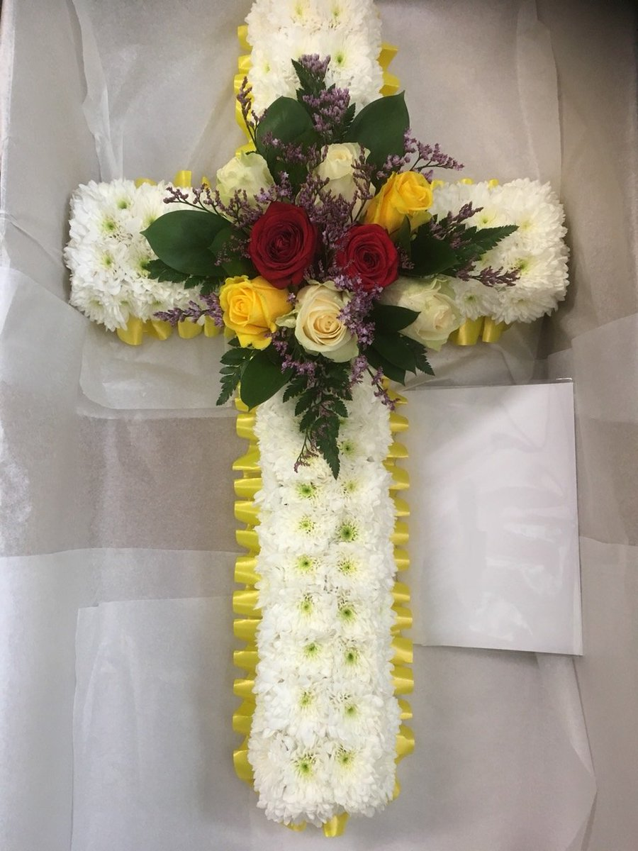 Funeral flowers on twitter personalized funeral cross to honor a special person who will always be remembered contact us at 020 3900 2444 to place your inquiry florist flowershop uk funeralflowers tribute izmirmasajfo