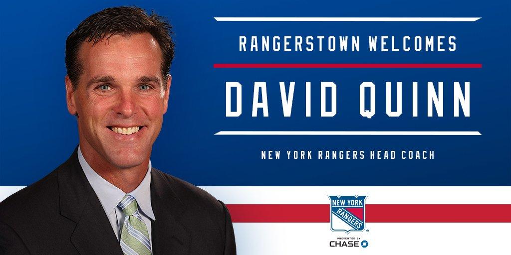 New York Rangers's photo on David Quinn