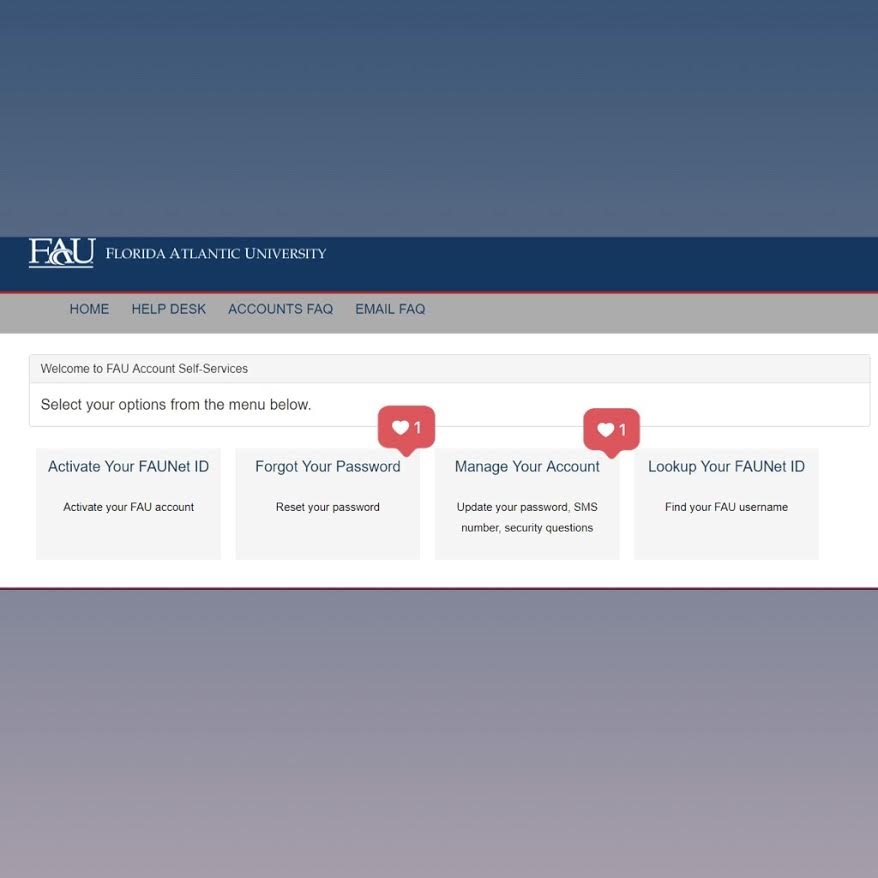 Great We Recommend That You Take Advantage Of The Recovery Options That The FAU  Account Self Services System Offers. These Features Will Enable You To  Reset Your ... Great Ideas