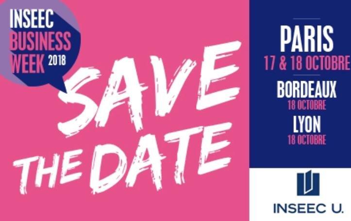 #SAVE #THE #DATE : La #Business #Week sera de retour à #Paris, #Bordeaux et #Lyon sur les campus @groupeinseec ! ✨ https://t.co/FU1MgsfvmG