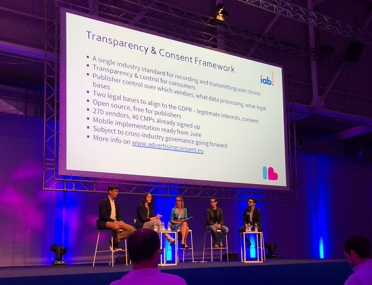 .@mediamath&#39;s Alice Lincoln discusses nuances of the @IABEurope Transparency &amp; Consent Framework at @IABEU_Interact. #interactIAB #GDPR #adtech <br>http://pic.twitter.com/LABbMjuoML