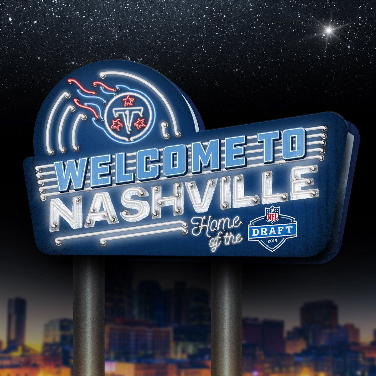 The @NFL Draft is officially coming to Nashville in 2019! <br>http://pic.twitter.com/I5LC7ziJ7g