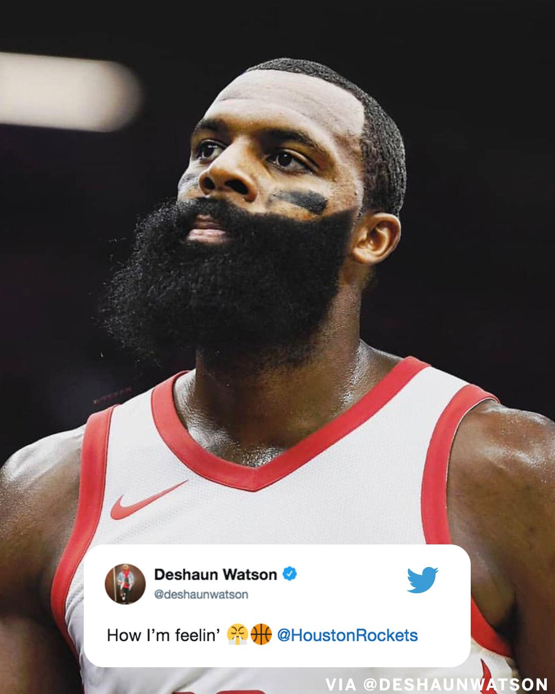 James Harden's big Game 4 has Deshaun Watson in a Beard kinda mood. https://t.co/BNlKMIpLWd