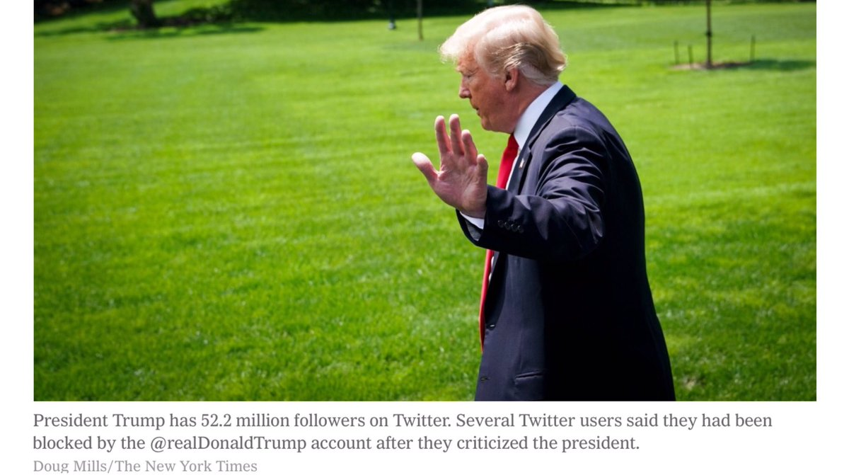 Just had to pop in for this one  &#39;Trump Violates First Amendment by Blocking #Twitter Users From Feed, Judge Says&#39;  Judge is from Manhattan, a woman, and I think her name must be #Karma   #TheResistance #WednesdayWisdom #ImpeachTrump #BlueWave2018<br>http://pic.twitter.com/zsnGcvt1Q1