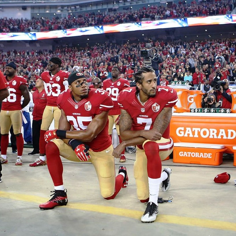 I hope the NFL turns into a competition about which club can accumulate the most fines #TakeAKnee<br>http://pic.twitter.com/NCmi95AC9K