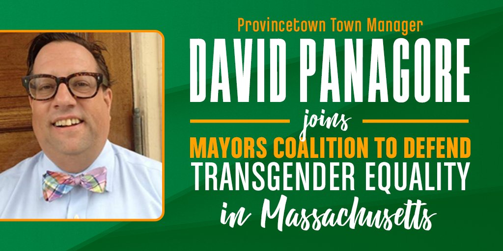 Proud to welcome #Provincetown Town Manager @dpanagore to our coalition of mayors across #Massachusetts who are speaking up to uphold #TransLawMA at the ballot this November! https://t.co/qJ7Ko8txfh #MAPoli