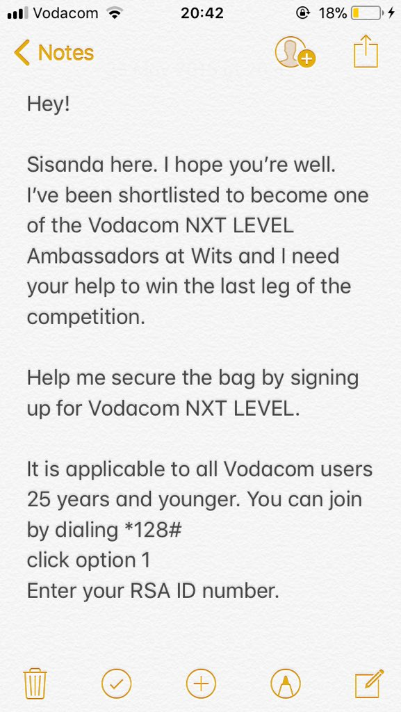 Hey guys. I've been shortlisted as one of the potential Vodacom NXT LEVEL brand ambassadors for Wits. Please read down below on how you can help me win the last leg of the competition  please RT for awareness  <br>http://pic.twitter.com/3aSfa5T52R