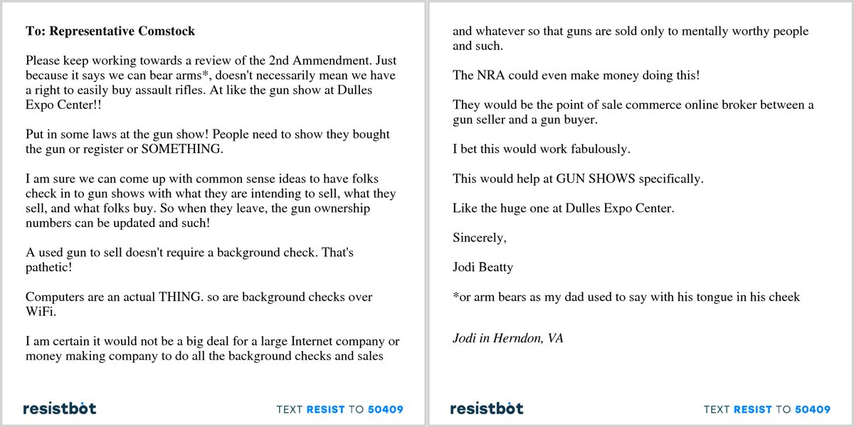 Resistbot Open Letters On Twitter Here S An Open Letter From