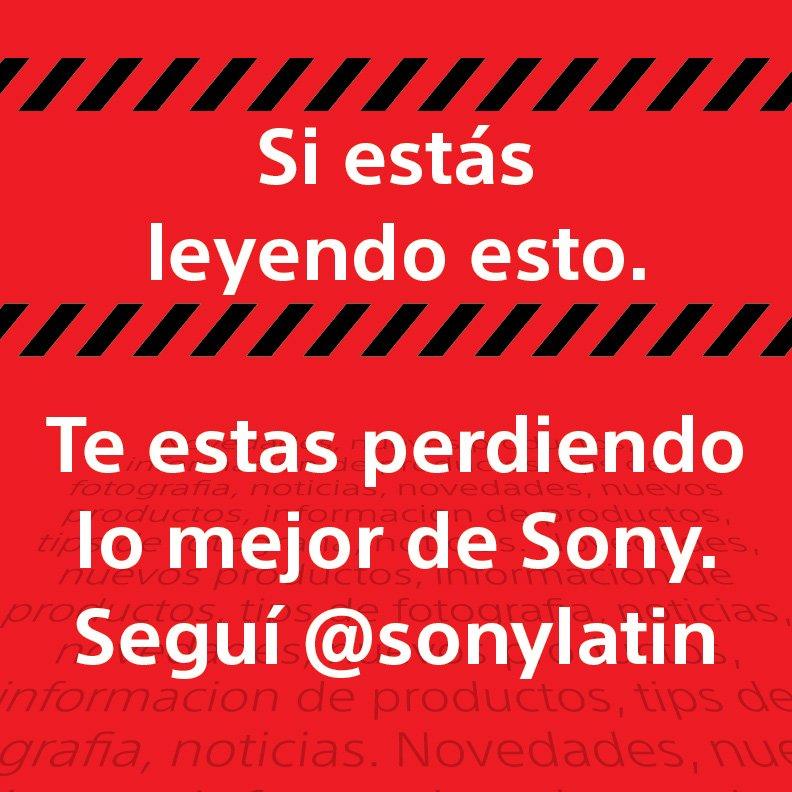 ¿Todavía no nos seguís? El canal oficial de Sony América Latina ahora es @sonylatin y te estamos esperando. https://t.co/SUHWwxl4td