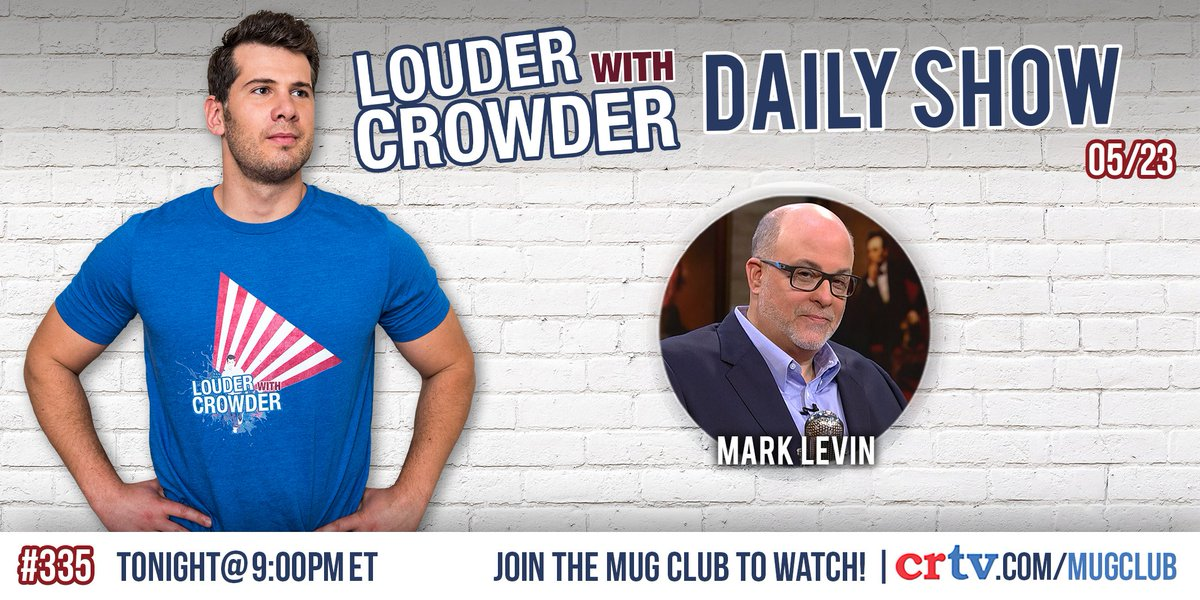 steven crowder on twitter the great marklevinshow is on the show