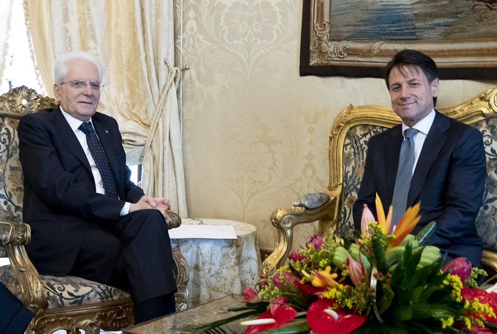 #Quirinale: il Presidente #Mattarella riceve il Prof. Giuseppe #Conte  #consultazioni