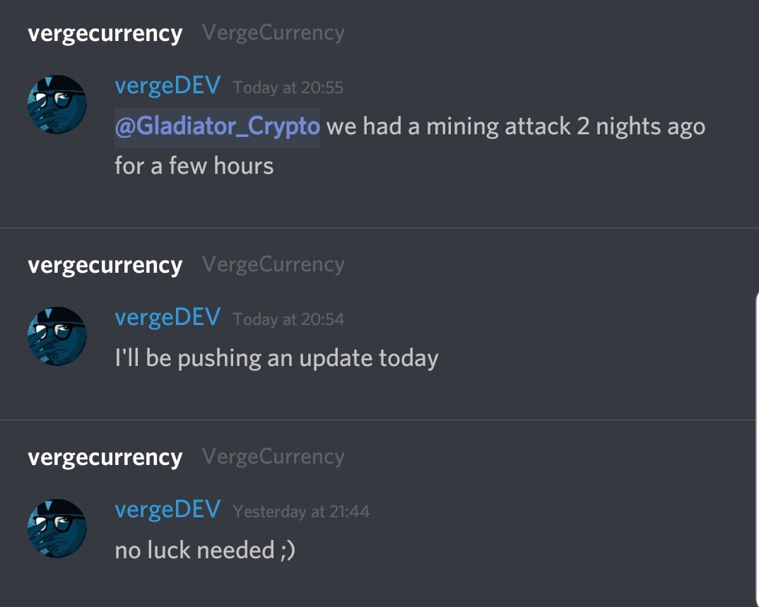 To My Dear #VergeFam ,  Verge Dev will be pushing the patch today.  Stay tuned and thank you for being Patient.  #XVG #vergecurrency<br>http://pic.twitter.com/TMWNWhvm7J