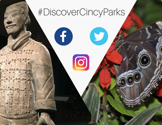 Contest extended! Submissions may continue through Tuesday, May 29th at 12:00pm. Share a photo of the parks with #DiscoverCincyParks for your chance to win 4 tickets to Butterflies of Madagascar + 4 tickets to Terracotta Army: Legacy of the First Emperor of China. Good luck!