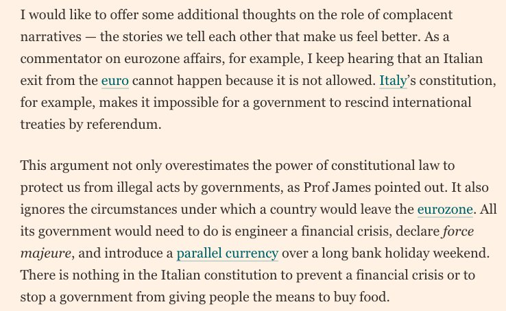 There's a strange complacency about how serious things could get in Italy https://t.co/xyEbgw11LZ