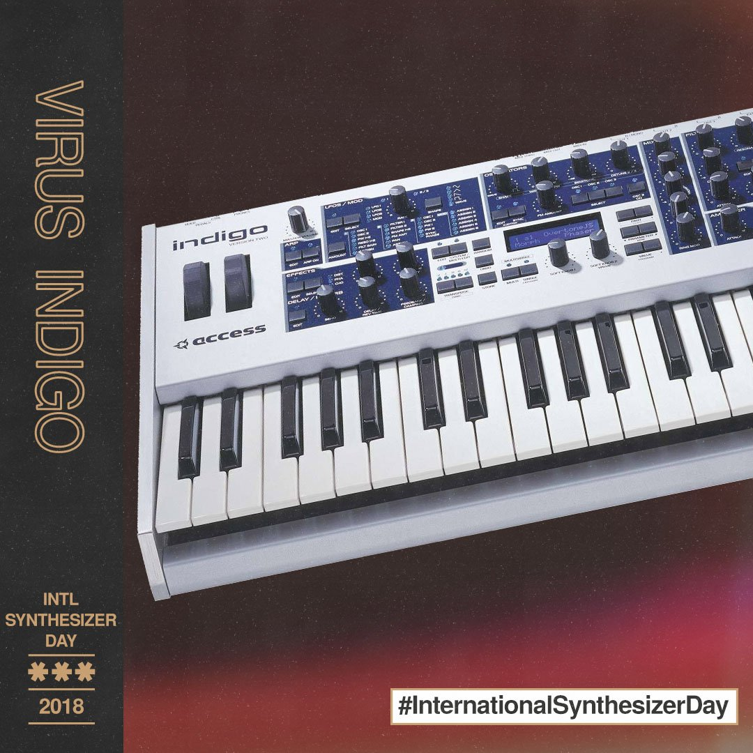 HAPPY INTERNATIONAL SYNTHESIZER DAY! The Access Virus Indigo was a retro-styled twist on the amazing Virus synthesizer with a cool new grey/blue look. You can hear some of the lush sounds of the Indigo in Trilian and Omnisphere 2! #internationalsynthesizerday<br>http://pic.twitter.com/a8uH1eAruP