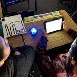 Image for the Tweet beginning: Spheros in room 13!! Learning