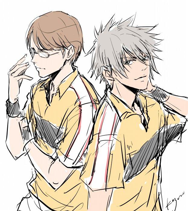 柳生&仁王!テニスキャラって描いたことなかった気がするな!