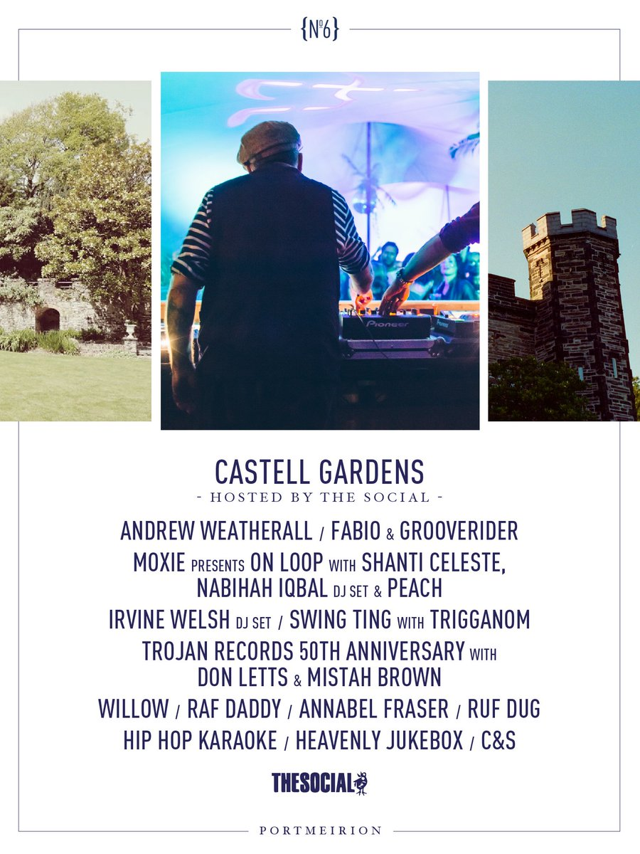 #AndrewWeatherall, @fabioandgroove, @DJMoxie presents On Loop with @ShantiCeleste, @nabihahiqbal (DJ set) & @itspeach_, @IrvineWelsh Classic Disco Set and much more join us at the Castell Gardens hosted by @thesociallondon.