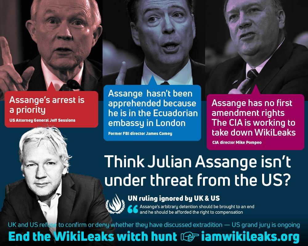 Vigil Call out: 6 Embassy Years for #WikiLeaks Julian #Assange on 19/06/2018 btw 6 - 8pm : wiseupaction.info/2018/05/01/vig… #FreeJulianAssange #ReconnectJulian #SafePassage #AbideByUNDescision Support #Assange & #WikiLeaks: iamwikileaks.org/donate/ Please sign: change.org/p/end-julian-a…
