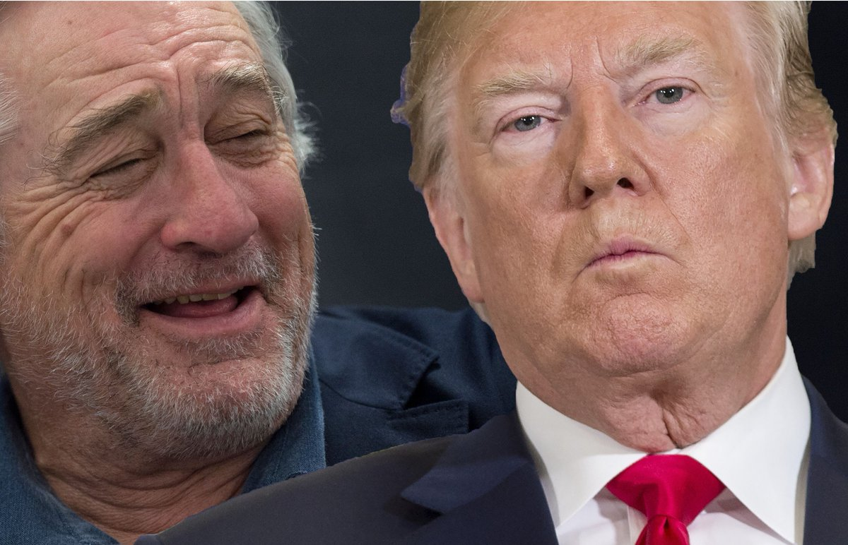 """I don't care what he likes. If he walked into a restaurant I was in — I'd walk out."" — Robert De Niro on Donald Trump https://t.co/UY7hXyoTwd"