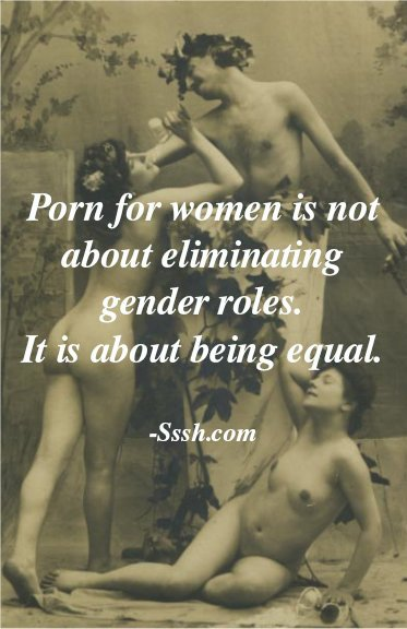 #feministporn is not about eliminating #gender roles....