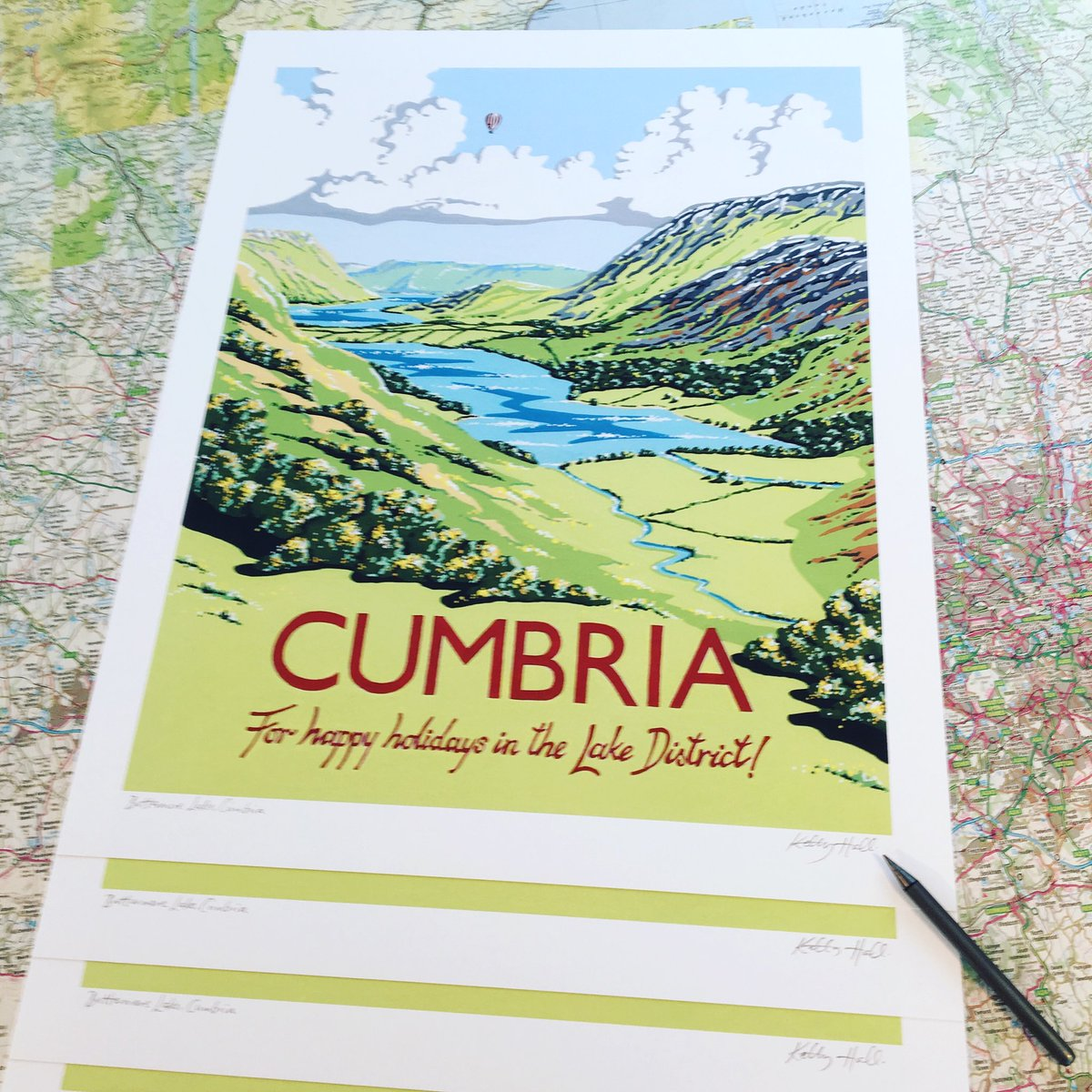 Kelly Hall Designs On Twitter Signing New Cumbria Prints