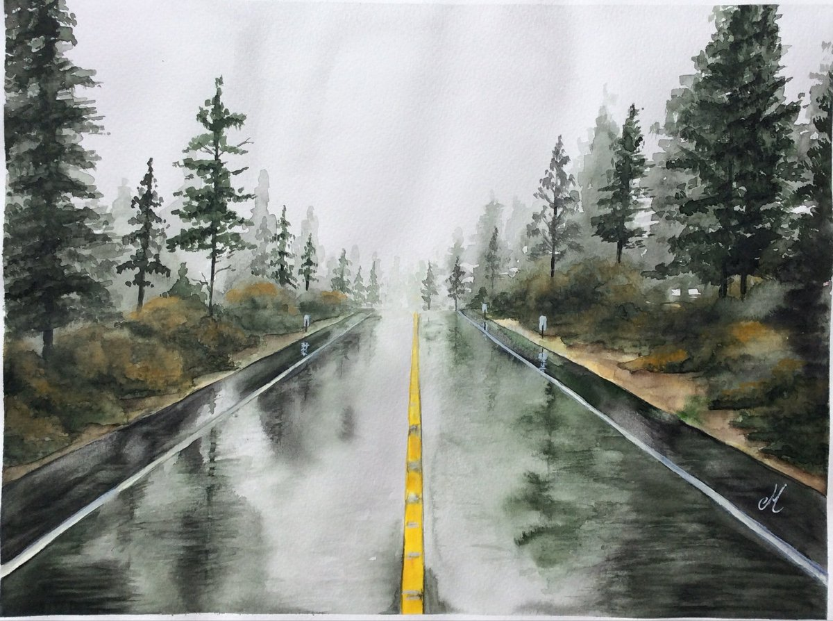 It&#39;s raining right now...  Have a happy evening  #watercolor #Painting #art #artistsontwitter #artwork #etsy #SupportIndieArtists #ArtLovers #artcollector #commissionsopen    https://www. etsy.com/es/listing/598 423209 &nbsp; … <br>http://pic.twitter.com/2ce5gc4MvD