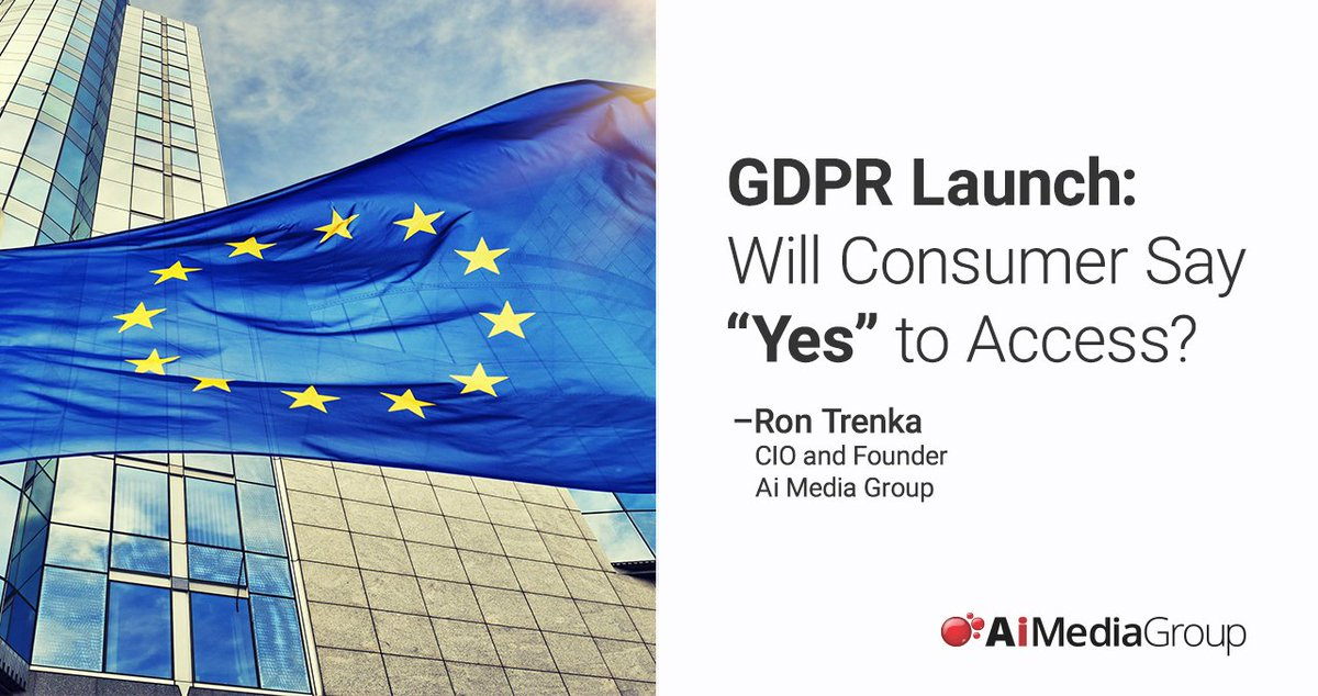 Go time for GDPR: two hot marketing issues (and three possible good outcomes)    https:// aimediagroup.com/insights/gdpr- launches-will-consumers-say-yes-to-access &nbsp; …   #GDPR #GDPRready #GDPRcompliance #AdTech #DigitalMarketing #DigitalMedia #DigitalAgency #WednesdayWisdom #ThoughtLeadership<br>http://pic.twitter.com/tyTr3xqO6o