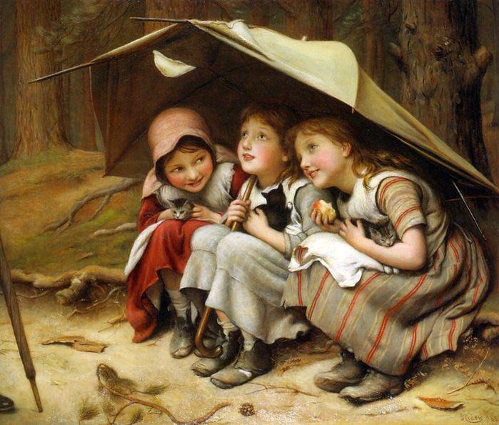 #arte #ArteYArt #artlovers Joseph Clark ~three little kittens <br>http://pic.twitter.com/LDV9UbHmU2