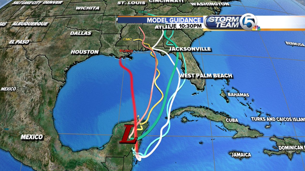 test Twitter Media - The 8pm outlook on the disturbance near Belize increases chances to 70% that a depression forms on the weekend in the Gulf. High likelihood for rain squalls in S. Florida through the holiday weekend.  New models coming in..will have the latest on @wptv at 11pm. And hoping FB Live https://t.co/5fCrfoxzd9