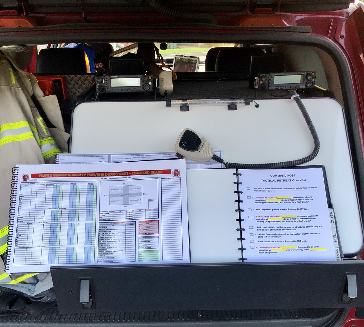 Practicing with command chart and Mayday checklist by listening to archived audio recordings from past incidents. Never enough practice in getting it right for the firefighters inside the buildings. @TTraining @fireengineering @fdic<br>http://pic.twitter.com/Z0s1WMPByw