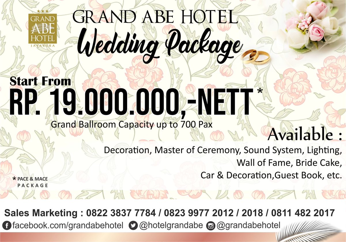 Grand abe hotel on twitter two souls with but a single thought our wedding package make your own beautiful moment and be a happy bride wedding weddingpackage weddinghotel grandabehotel grandabe hotelhits junglespirit