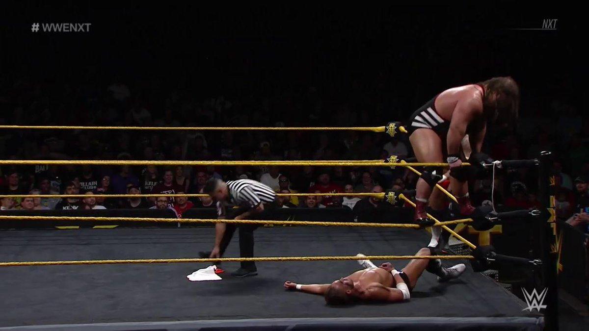 The DEFINITION of a danger zone! @WWEDozovic #WWENXT