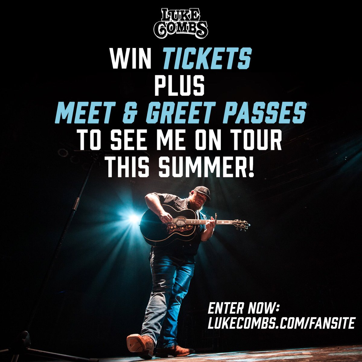 Luke combs on twitter wanna see me on tour with jason aldean meet greet passes for each show to one lucky winner reply with who youll bring with you if you win enter here httpslukecombsfansite m4hsunfo