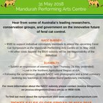 Today is the last day to apply for the @NACC_NRM community subsidy to attend the WA Feral Cat Symposium. Hear from some of Australia's leading researchers, conservation groups & government on the innovative future of #FeralCat control. https://t.co/wn74f4UUhc #SavingSpecies