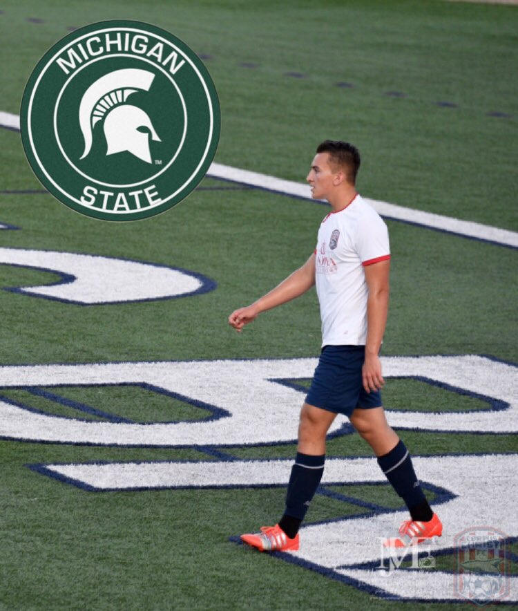I am excited to announce that I will be continuing my academic and athletic career at Michigan State University. Playing at a high level program has always been a goal of mine. I want to thank my family, friends, and coaches who have been a part of the process.  #GoGreen #MSU<br>http://pic.twitter.com/446yBBCExk