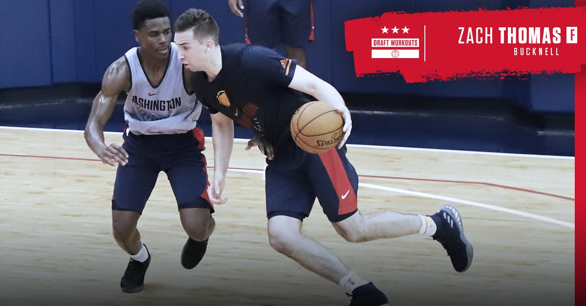 And from @Bucknell_MBB at todays #WizDraft workouts... Zach Thomas! #DCFamily