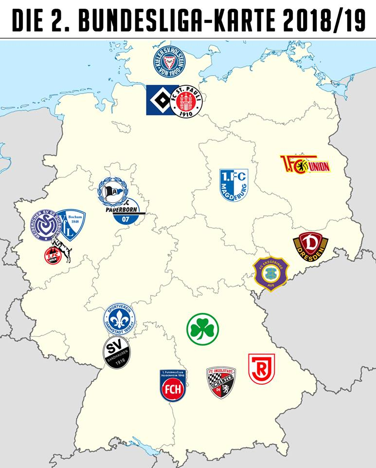 Silesian Pirates On Twitter Very Close Close Farther And Far Away All 2 Bundesliga Clubs In Season 2018 19 2bundesliga Fcsp Map From Https T Co Wqdevewur0 Https T Co Ertq4011su