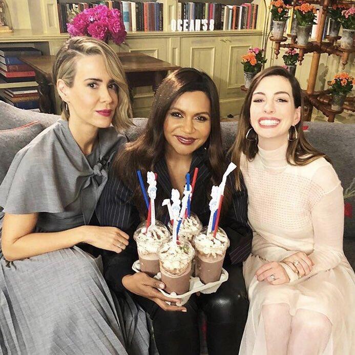 Sandra Bullock bought milkshakes for the ladies 💕✨ #Oceans8