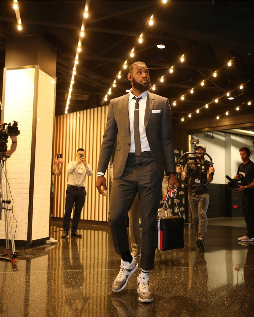 check out 9deb7 d351a kingjames arrives wearing the john elliott x lebron james nike icon