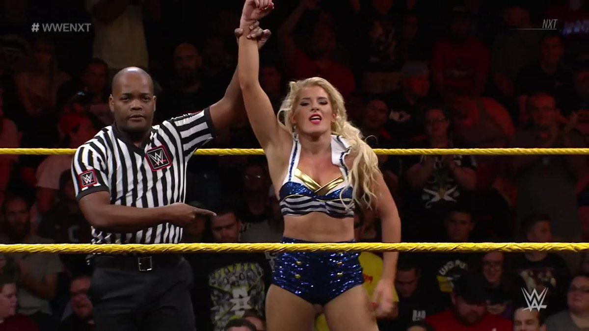 WHAT A VICTORY for The #LadyOfNXT, @LaceyEvansWWE! #WWENXT