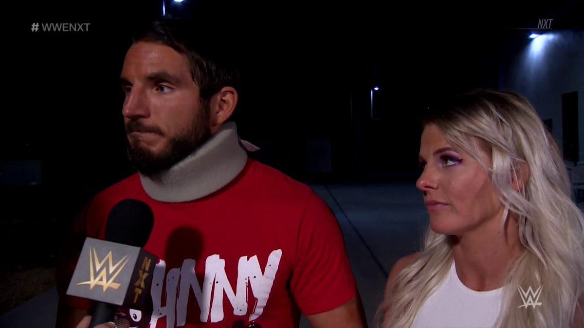#JohnnyWrestling is here.  What will @JohnnyGargano have to say to the #NXTUniverse tonight? #WWENXT @CandiceLeRae