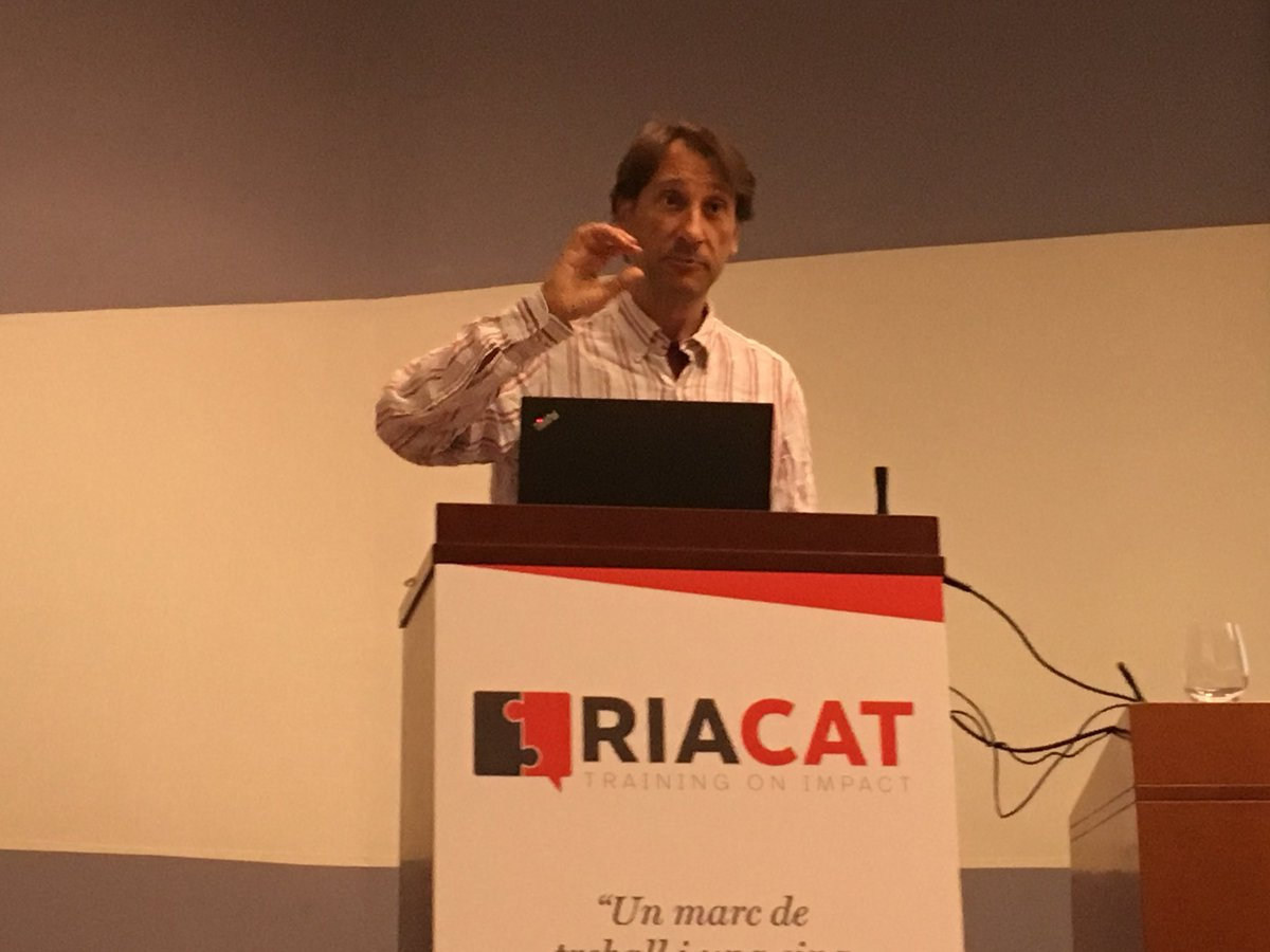 @IsmaelRafols  was even less zen with bibliometrics at #RIACAT18 and gave a great talk about the points ef the Leiden Manifesto<br>http://pic.twitter.com/lzA2Hrz1pX