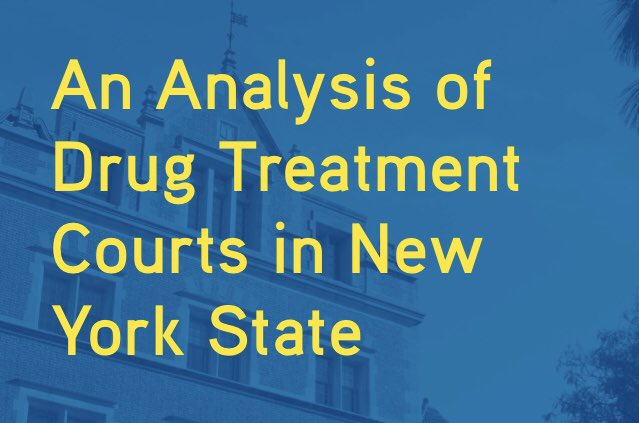 New York's drug treatment courts are meant to break the cycle of addiction by diverting participants to treatment instead of jail. But to be truly effective, they need to be part of a more comprehensive approach.  Report: https://t.co/U8mJOBAUoB