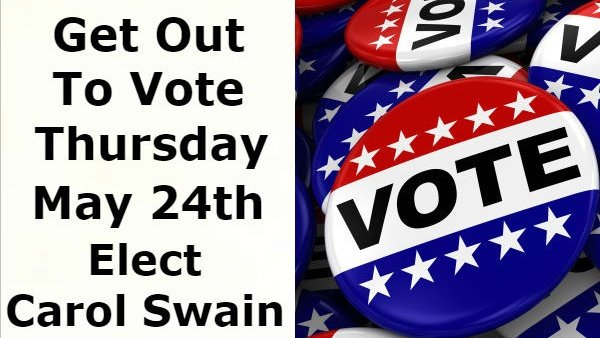 Tomorrow is ELECTION DAY!  Get out and bring your friends and family to the polls!  Let&#39;s elect Carol Swain our next mayor and bring real change to Nashville! <br>http://pic.twitter.com/8B0FiM7acm
