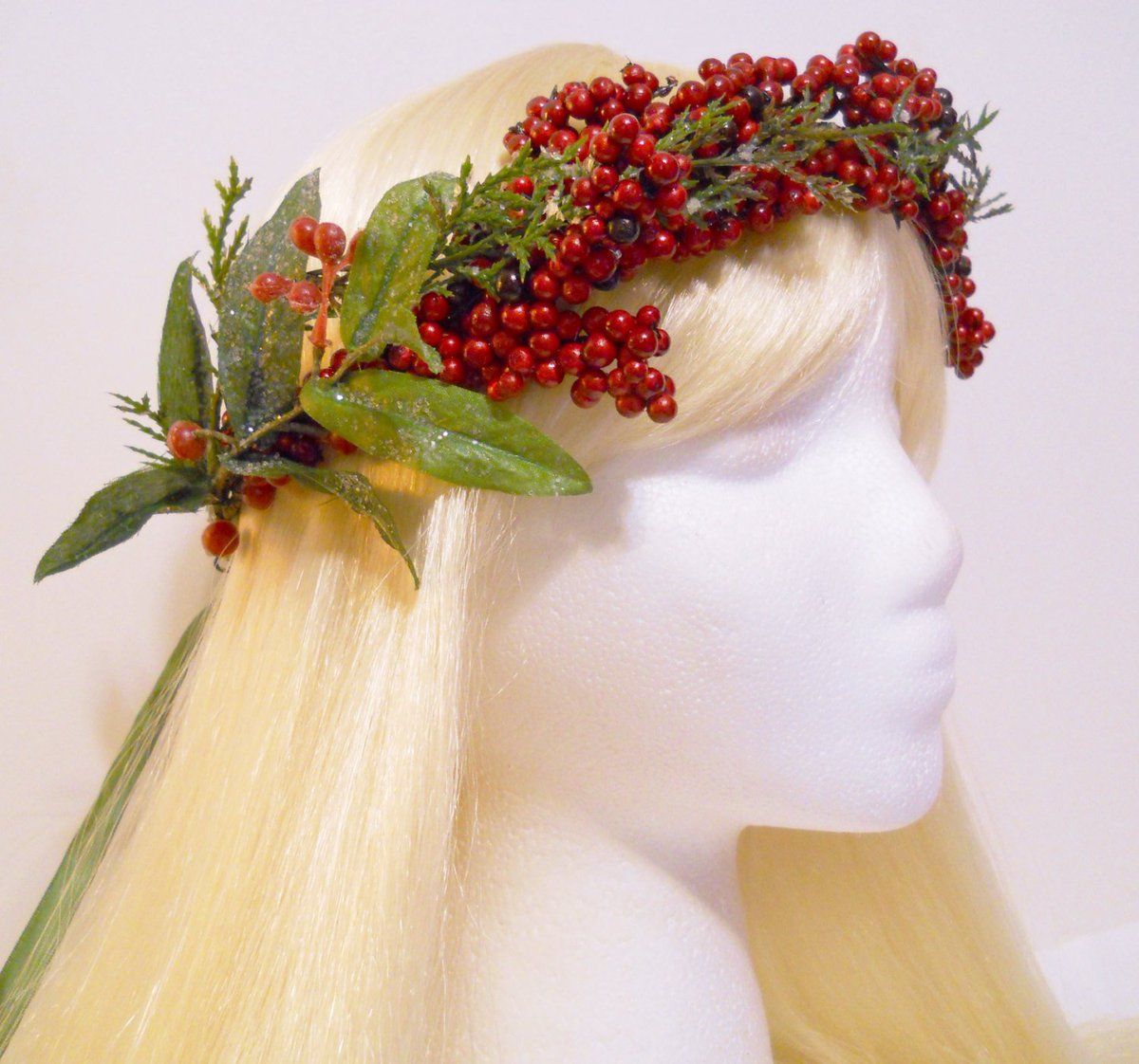 Michele on twitter red berry flower crown head wreath frozen christmas winter weddings flower girl snow crystal ice red green mistletoe berries holiday party httptuppuc1f00395 prom queen flowercrown izmirmasajfo