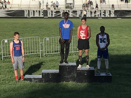 . @jaeschelache is your Regional Champ in the Long jump with a leap of 22-0! #congrats #ontostate