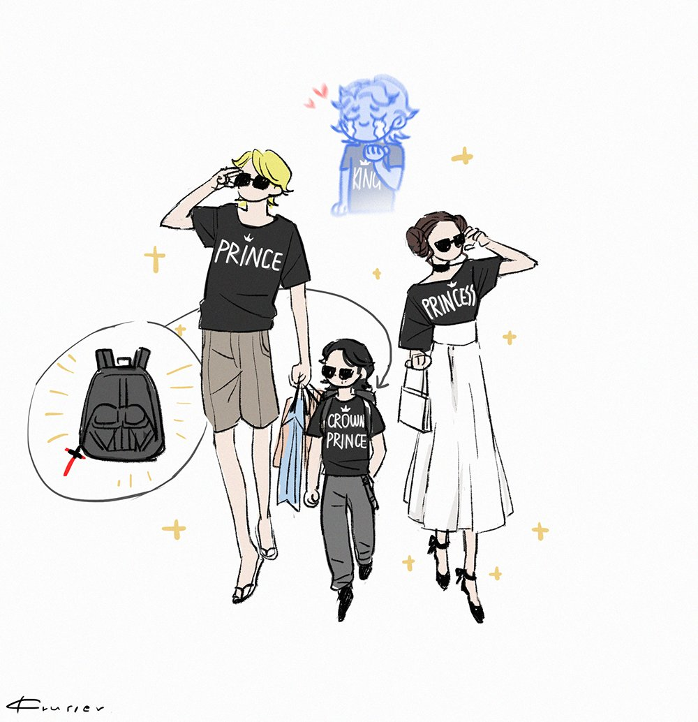 request from friend: galaxy twins bring Kylo to buy some clothes here comes family outfit! #starwars <br>http://pic.twitter.com/PYoAkEF6Kl